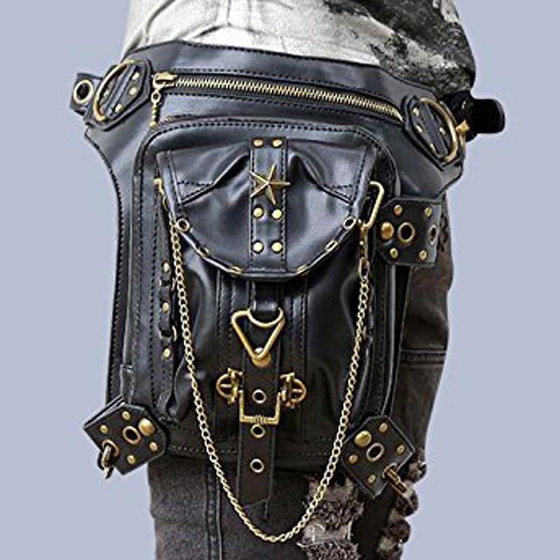 Punk las correa gótico mujeres de Cuero Steampunk señoras bolso 1UxnFaIwq5