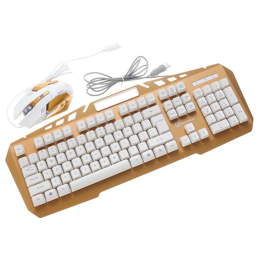 Mechanical Hand Mouse Set Game Notebook Desktop Computer Wired Mouse Keyboards Color : B