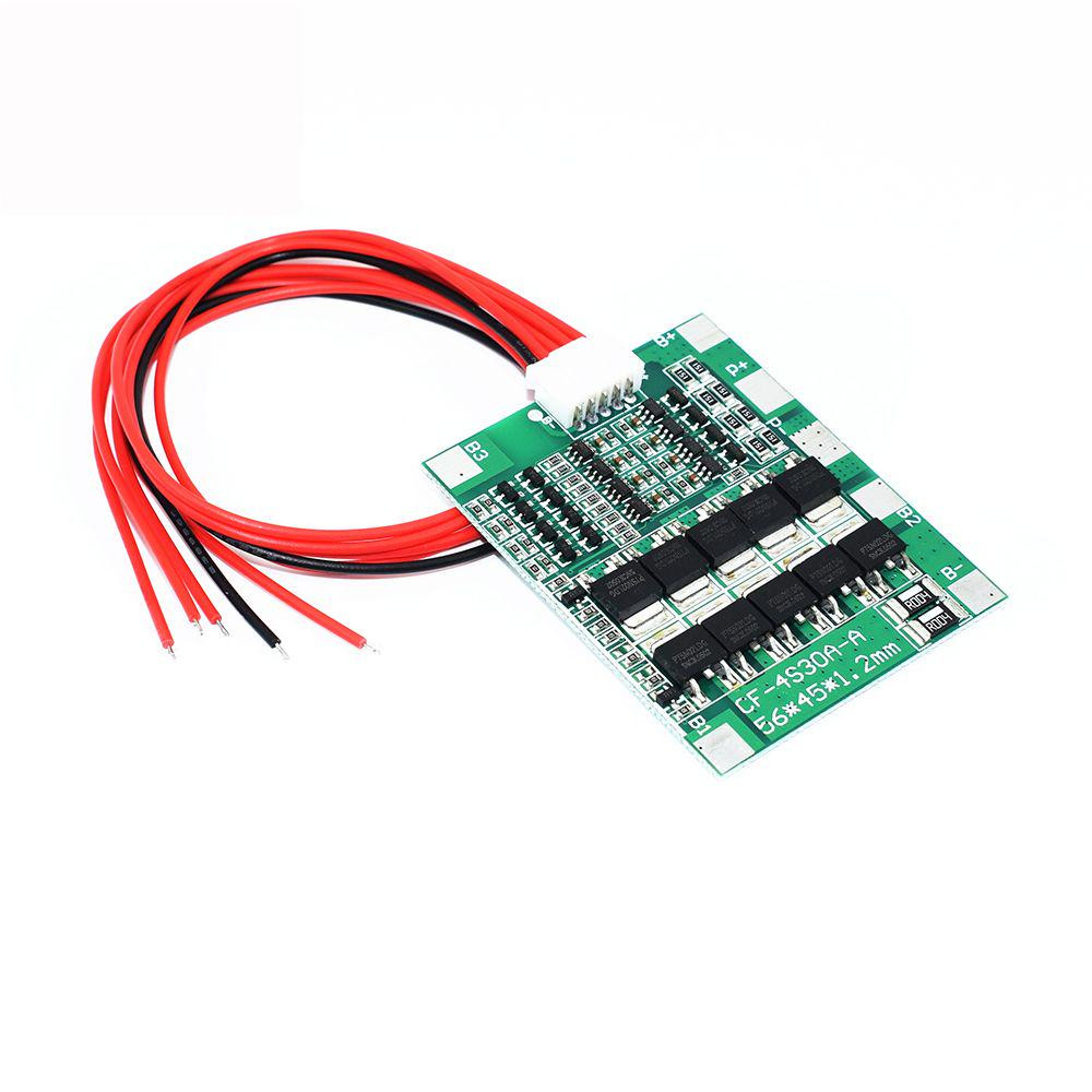 4 S 14.8 V 30 A BMS PCB Protection Board 18650 Li-ion batteria al litio SALDO Cella