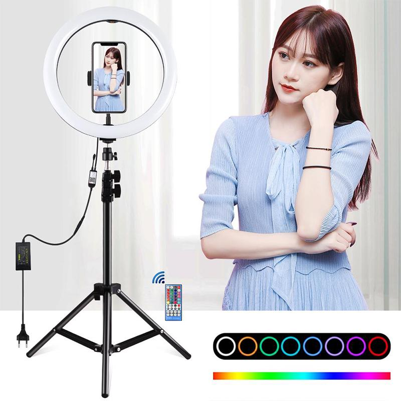 LED Ring Light Lamp Live Makeup Video Photo With Desk Tripod Selfie Youtube UK