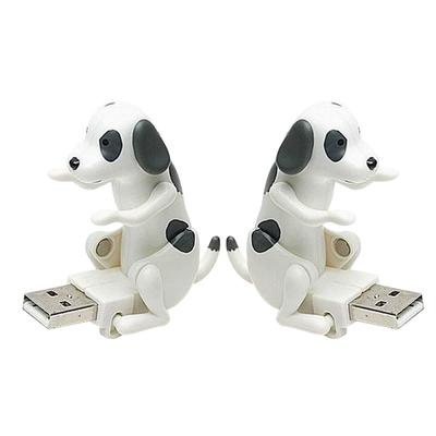 Mini Funny Cute pet USB Humping Spot Dog Toy Christmas Gray E Relieve Pressure