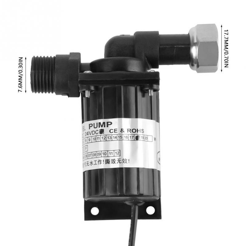 DC 12V 18W Brushless Water Pump High Temperature Resistance Circulation Low Noise Brushless Water Pump