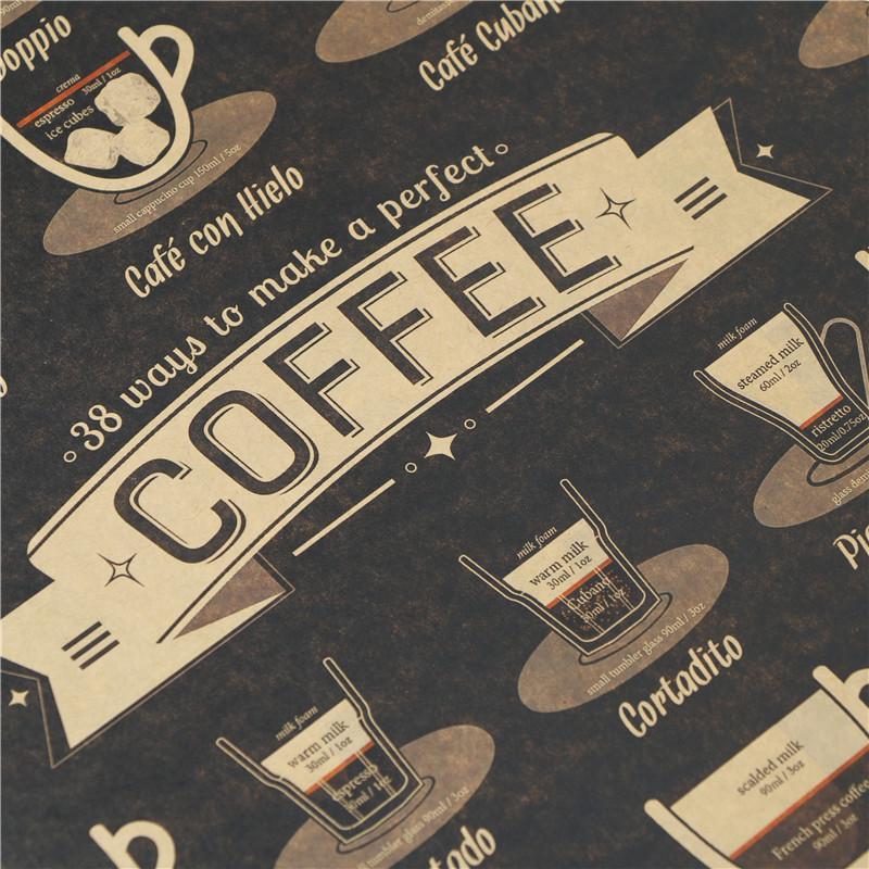 K9 Ratio of coffee Nostalgic restoring ancient ways Kraft Wall Sticker posters