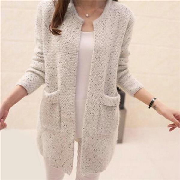COBOY Зимние женщины случайные трикотажные дамы свитера Кардиган – купить по низким ценам в интернет-магазине Joom