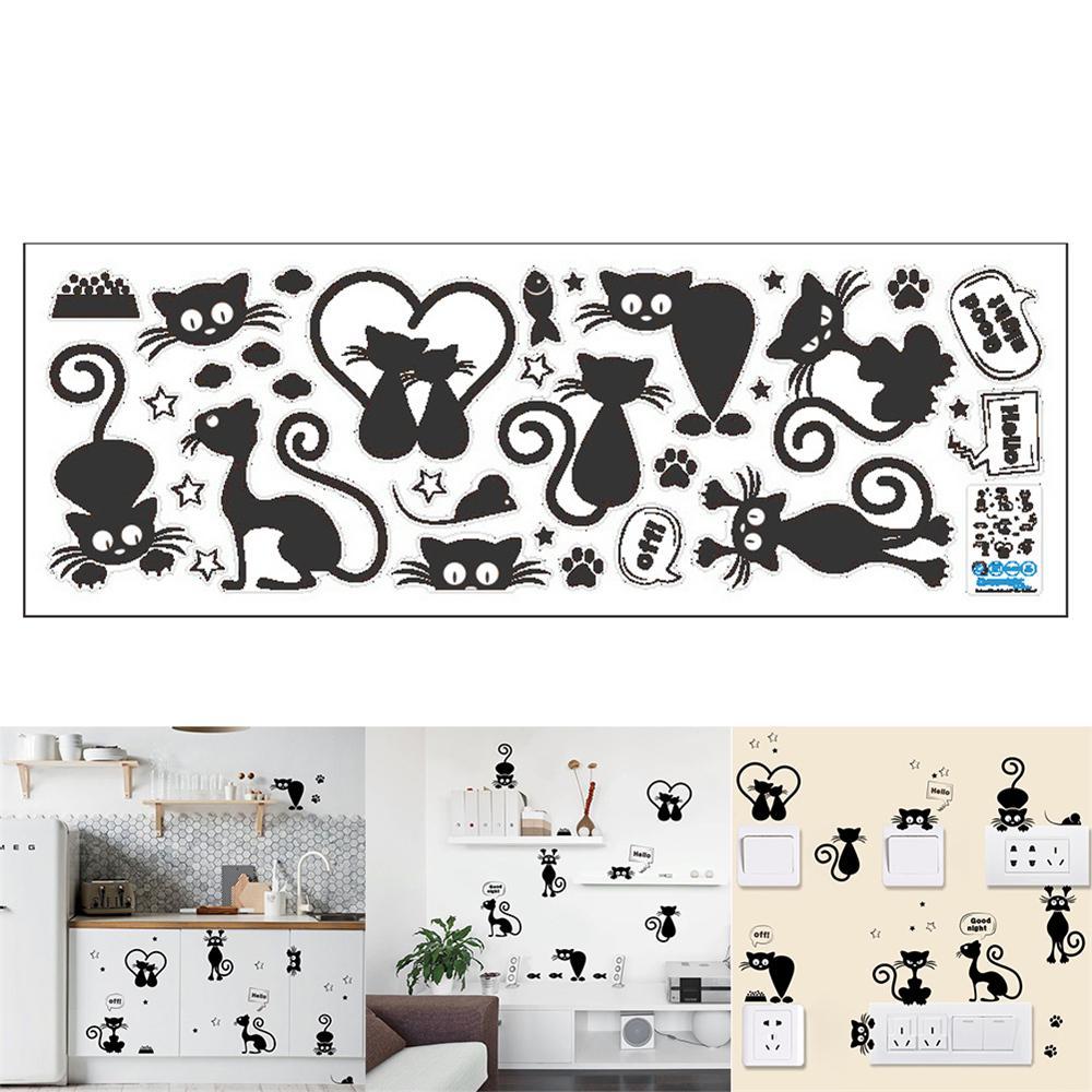 1PC DIY Creative Removable Peel and Stick Cartoon Owl Bird Animals Wall Decals