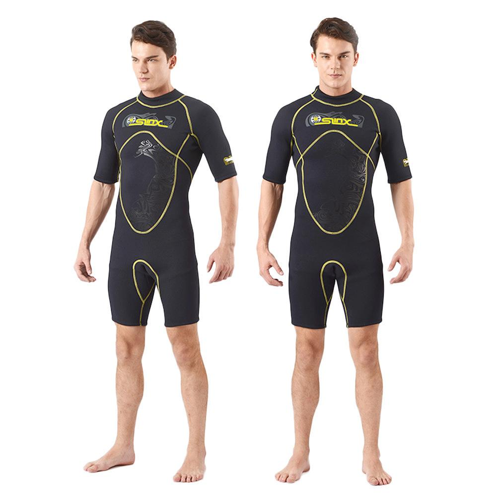 1c1cf2af86 Men s 3mm Neoprene Wetsuit Shorty Spearfishing Kite Surfing Scuba Diving  Suit Snorkeling Boating-buy at a low prices on Joom e-commerce platform