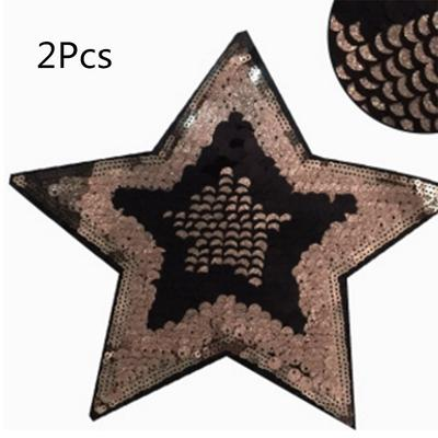 stars eyes patches reversible change color sequins sew on patches for clothes TK