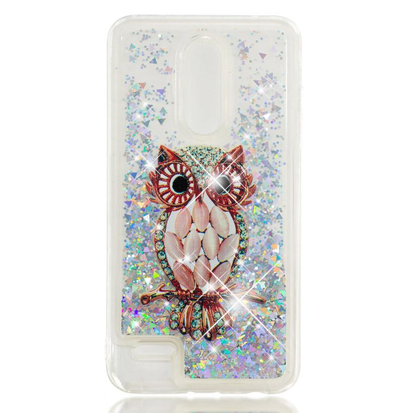 lower price with 9f287 ec5ba Glitter mobile phone case AKABEILA case for lg k10 2017 US version dynamic  phone bag protector for lg brand