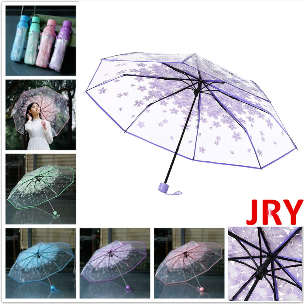 Magic Mushrooms Pattern Automatic Open Folding Compact Travel Umbrellas For Women