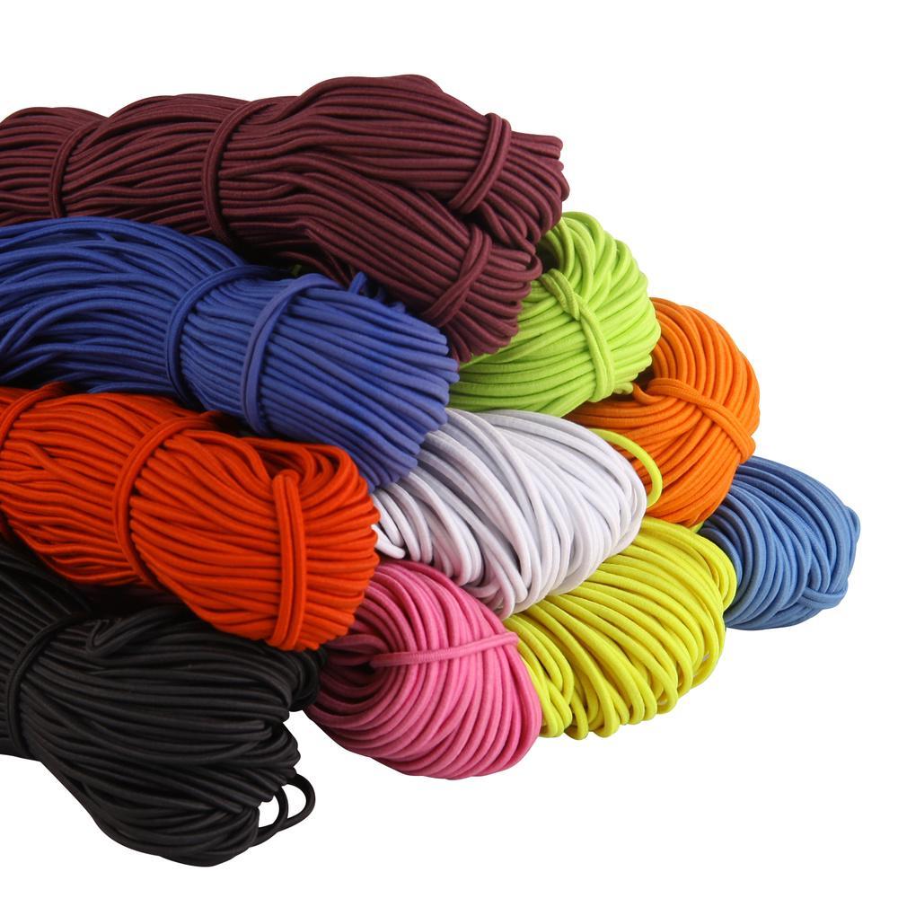 5//10//15M Black Round Elastic Band Cord Ear Hanging DIY Sewing Rope Materials