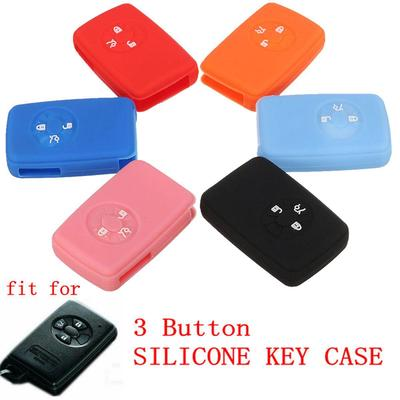 Smart Remote Key Case 3 BTN 11 CLR BK Silicone Cover Holder Shell fit for TOYOTA