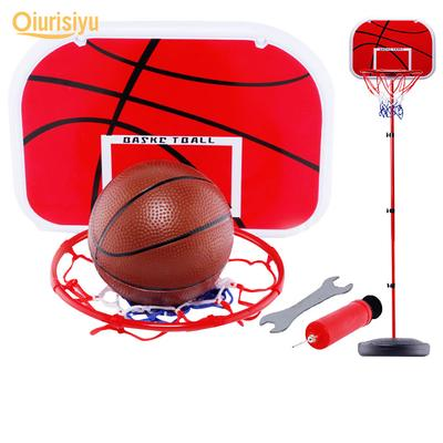 Leic Basketball Stand Basketball Sport Plastic Backboard 4-Section 63-150cm Height Adjustable with Inflator Toys for Children