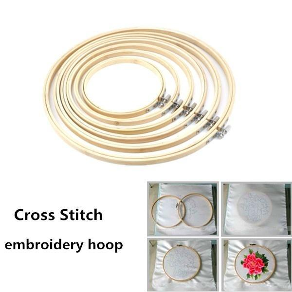 Wooden Cross-stitch Embroidery Hoop Ring 13cm//17cm//20cm SS