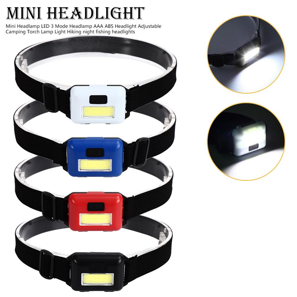 3000LM Mini  LED Headlamp Cool White 3 Modes Head light Torch USB Rechargeable