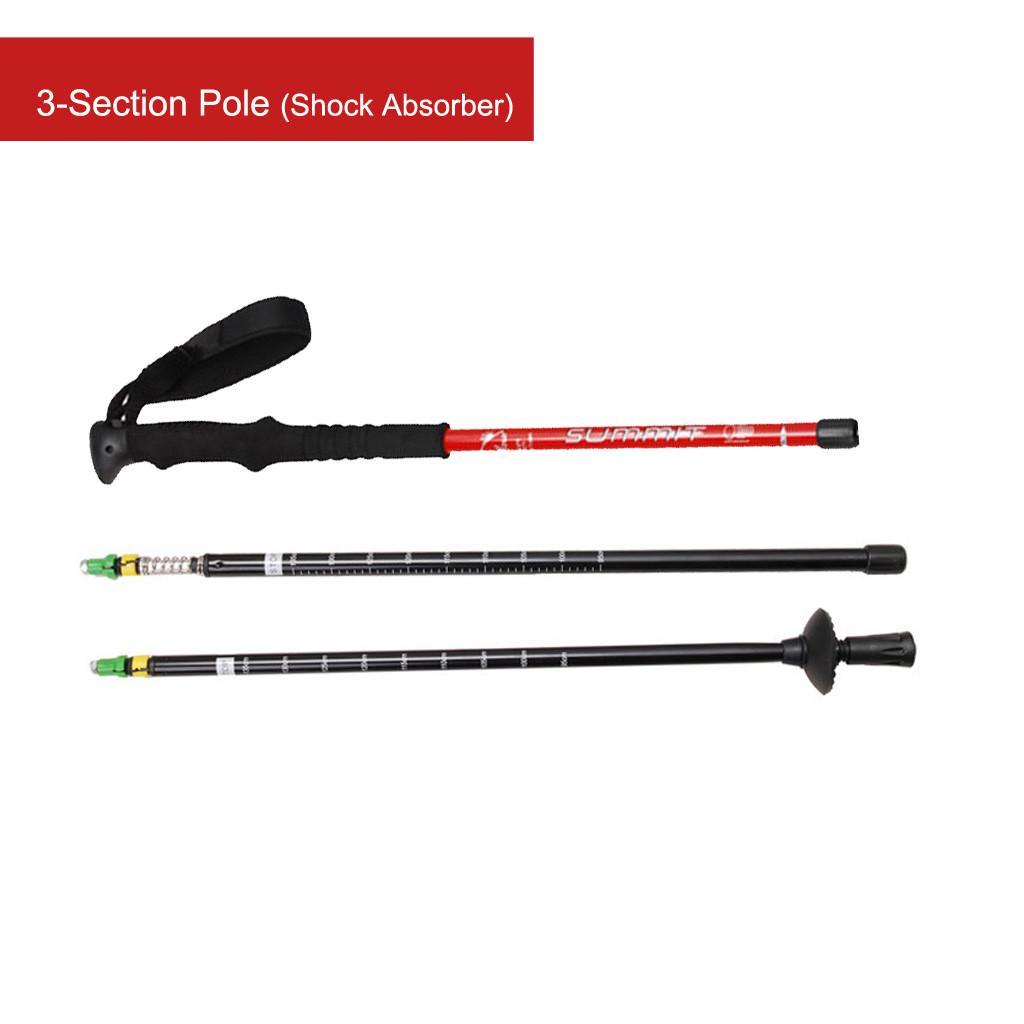 2x Hiking Trekking Poles Stick Alpenstock Lightweight Anti-shock   NEW