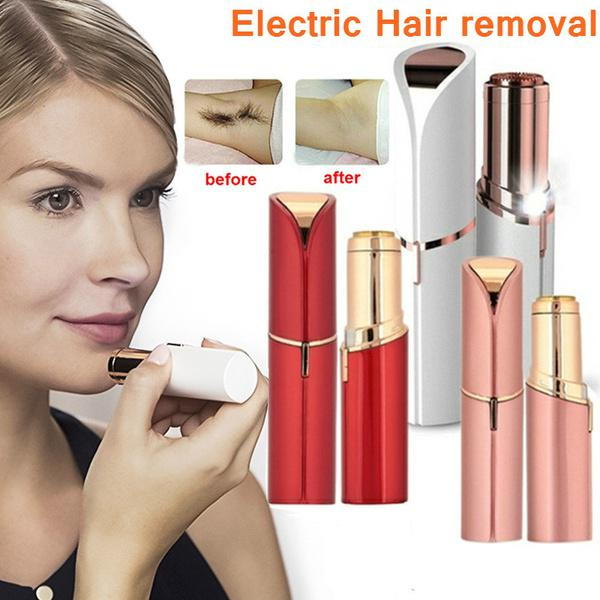 Mujeres lápiz labial forma depiladora afeitadora eléctrica Mini impecable  sin dolor Facial cera pelo eliminación máquina de afeitar - comprar a  precios ... 8ebe7c9f25d8