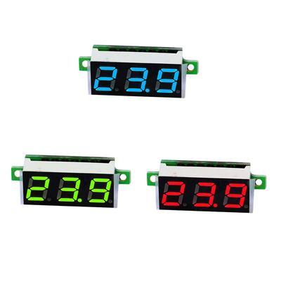 Ext/érieur. Garsent Thermom/ètre de Voiture Horloge Num/érique LED R/étro/éclairage Affichage Moniteur de Voltm/ètre Multifonctionnelle pour Int/érieur LCD Thermom/ètre Num/érique avec Alerte au Gel