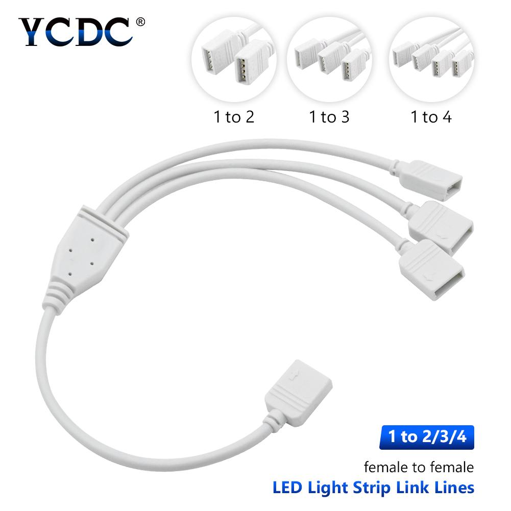Female to Female 3528//5050 RGB LED Strip Light Splitter Connector Cable
