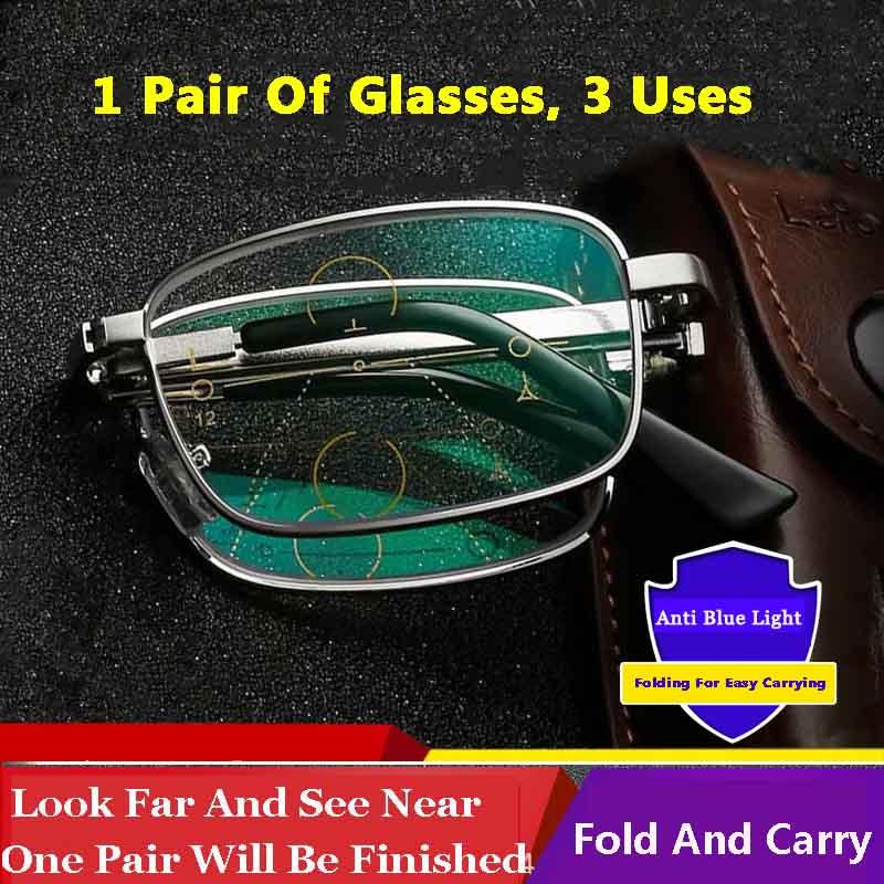 2020 Progresiva Multifocal Plegable Gafas De Lectura Hombres Mujeres Lejos Cerca De La Vista Anti Azul Smart Zoom Presbyopia Gafas Masculinas Comprar A Precios Bajos En La Tienda En Línea Joom