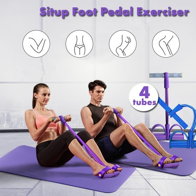 Indoor Abdominal Exerciser Resistance Bands Sit Up Pull Rope Fitness Equipment