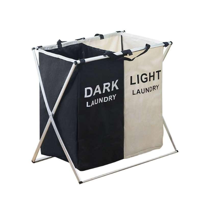 סל כביסה מעוצב עם לכביסה שחורה / לבנה