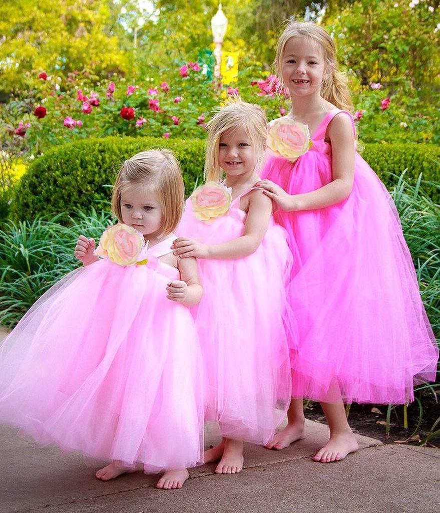 Vestidos de princesa de verano flor niña vestido niño desfile fiesta ...