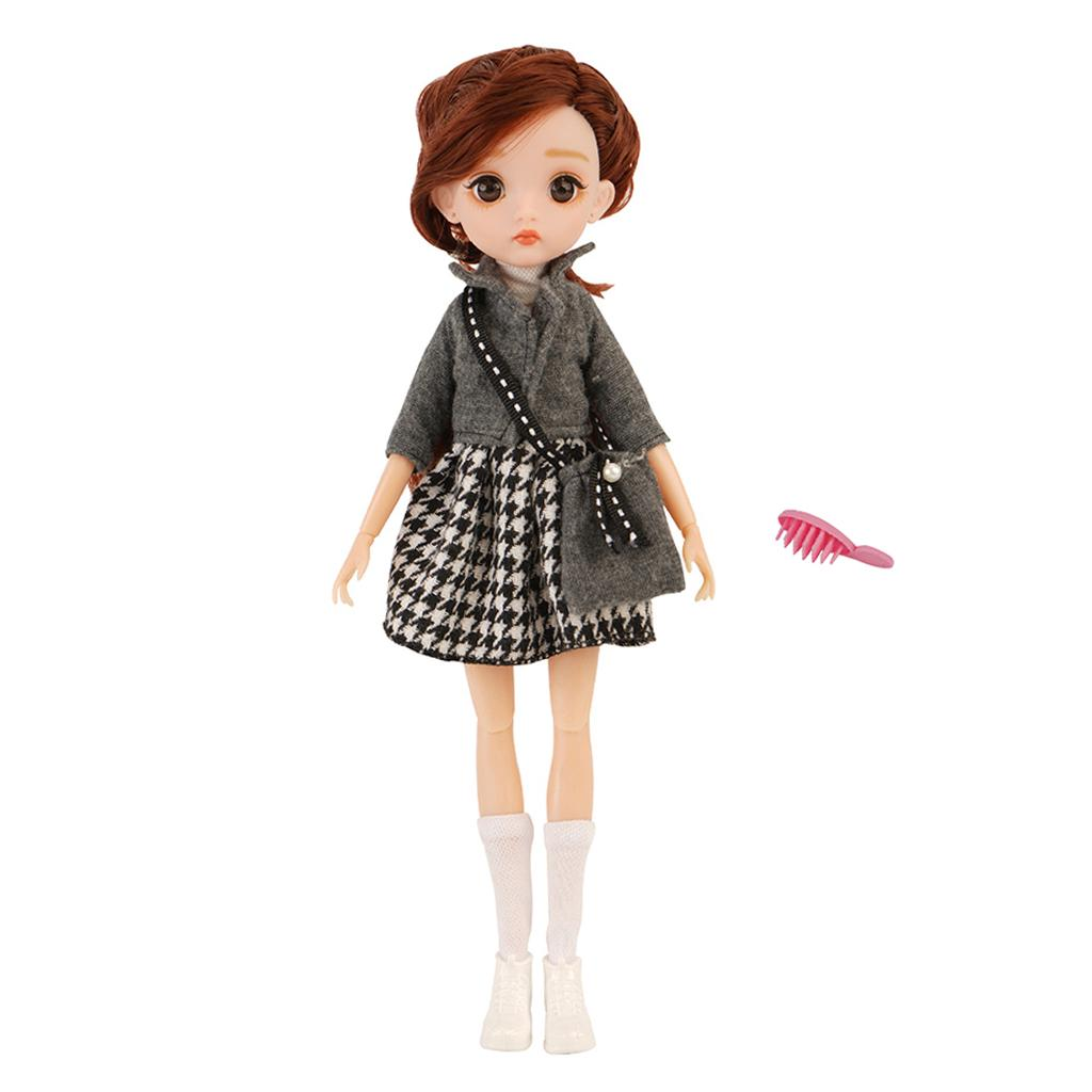 BJD Princess Doll Nude Body with Clothes Shoes Suit Outfits Clothing Accs