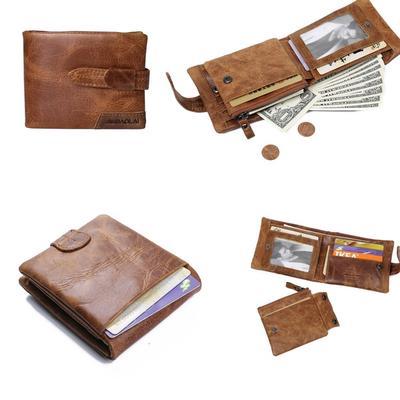 bba1ceff95d1 Кожаные мужские короткие кошелек Клатч с Монета карман роскошь кошелек  мужчин