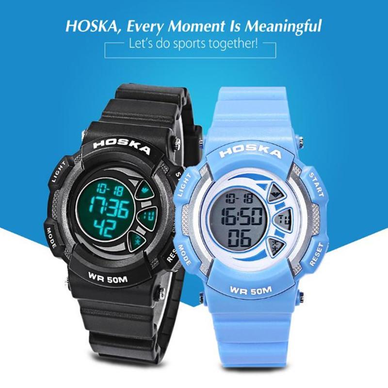 403d04efcb35 HOSKA niños LED Digital reloj 5ATM día fecha pantalla reloj de pulsera -  comprar a precios bajos en la tienda en línea Joom