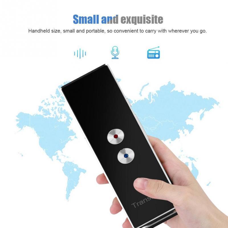 Voice Translator Portable X9 Intelligent Multi-Language Voice Translator For Learning Travel Meeting translations Smart Translator Black