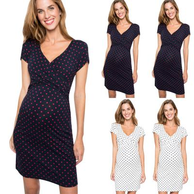 Womens Striped Maternity Nursing Ladies Sleeveless Casual Summer Pregnancy Dress