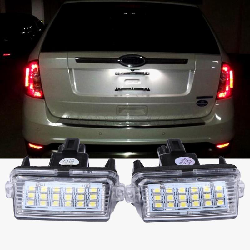 2 Szt 12v 18 Led 6000k Numer Rejestracyjny Lampa Oświetlenia Tablicy Rejestracyjnej Dla Toyoty