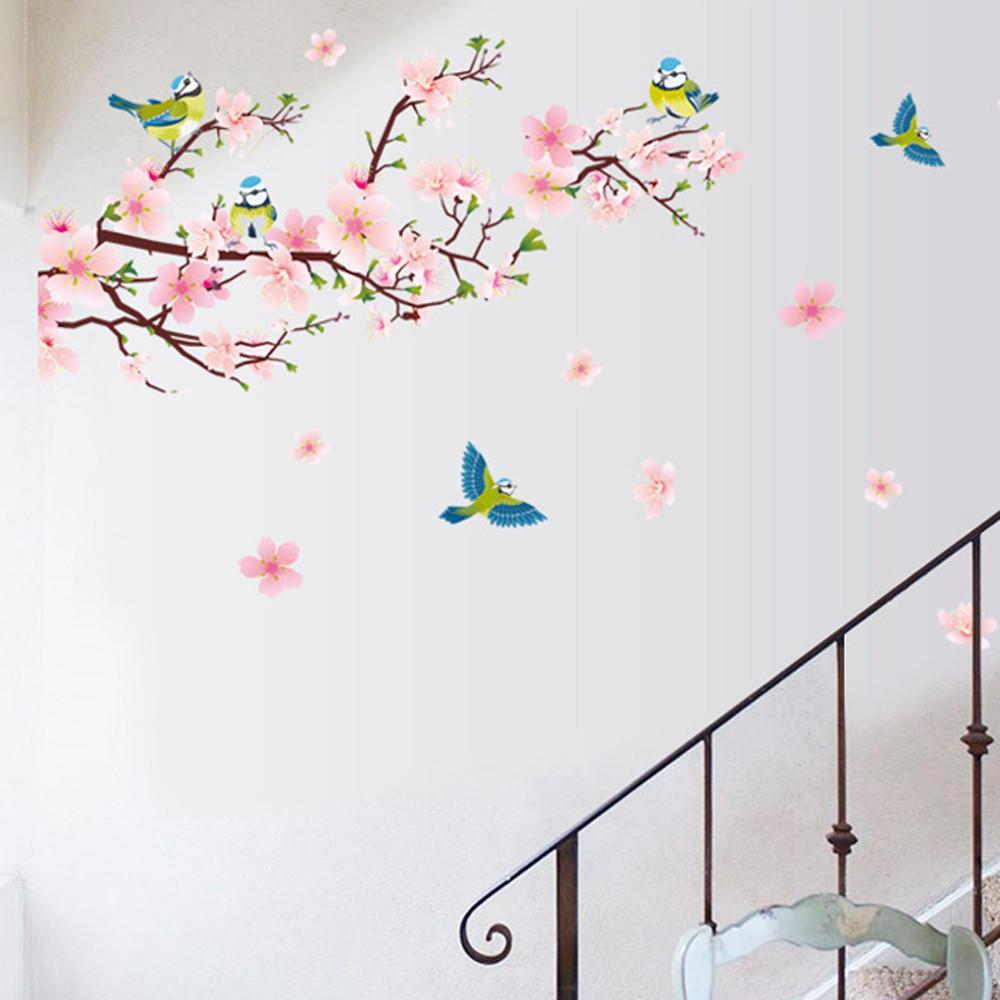 Arte Tatuajes Decoración Mural Habitación Flor De Durazno Flor