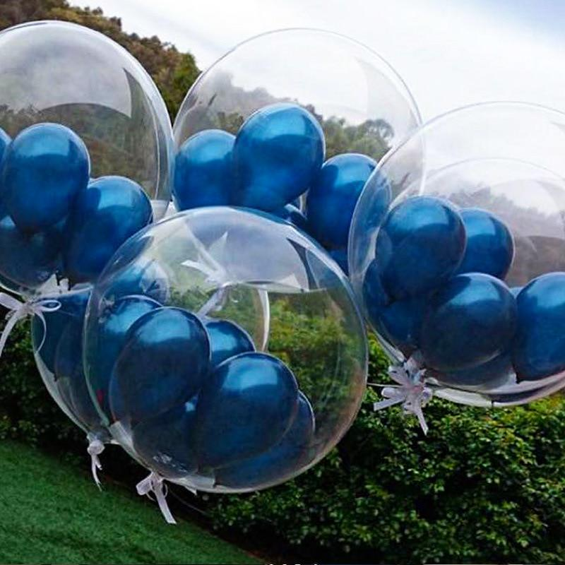 10 PCS Bobo Balloons PVC Transparent Balloon Wedding Birthday Party Decor Je