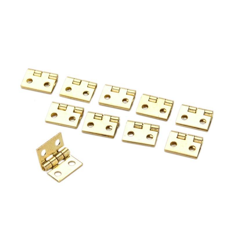 20x Mini Small Metal Scharnier für 1//12 Haus Miniatur Kabinett Möbel DDEWZS