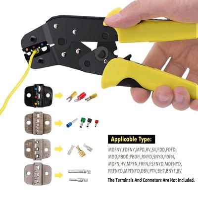 1Pc Autom Multifunction Wire Strippers Ratcheting Effort-Saving Cable Crimper