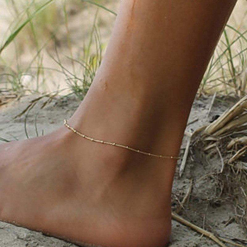 New Fashion Women Shell Bead Chain Anklet Ankle Bracelet Bangle Barefoot Jewelry