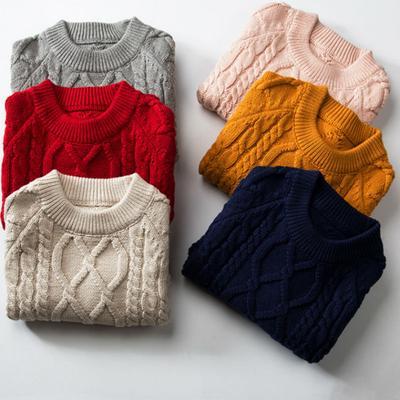 506fcfdd77d8e Enfants pulls O cou manches longues automne hiver doux chaud filles garçons  tricot pulls