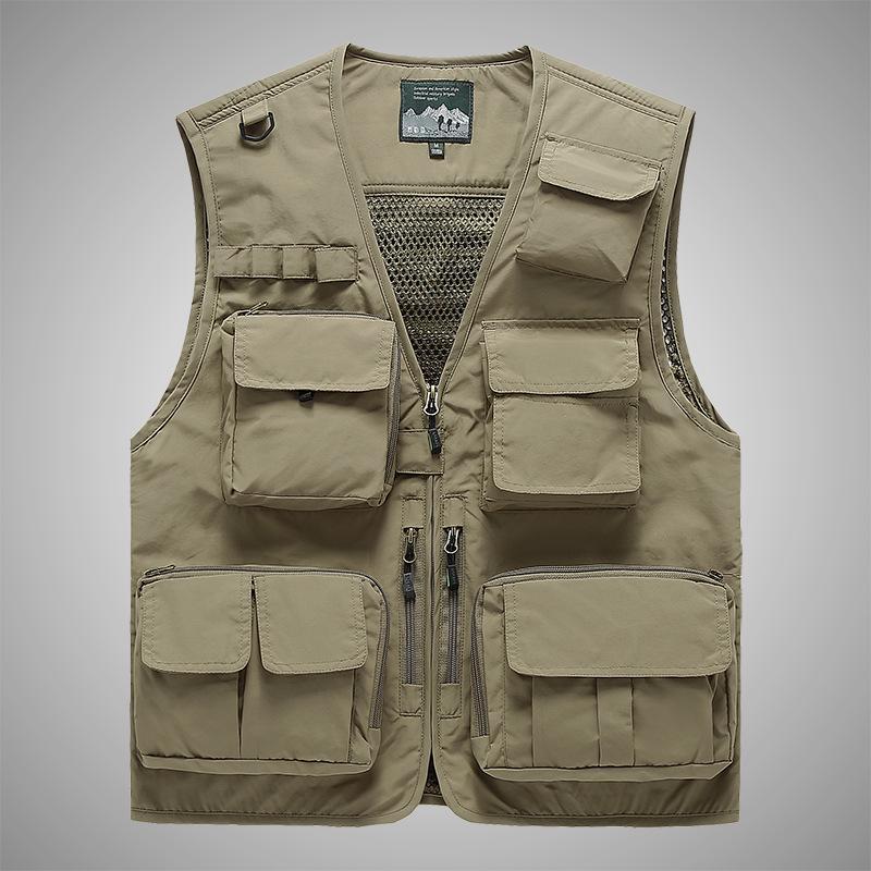 Fashion Men/'s Utility Multi Pocket Mesh Vest Hunting Shooting Fishing Waistcoat