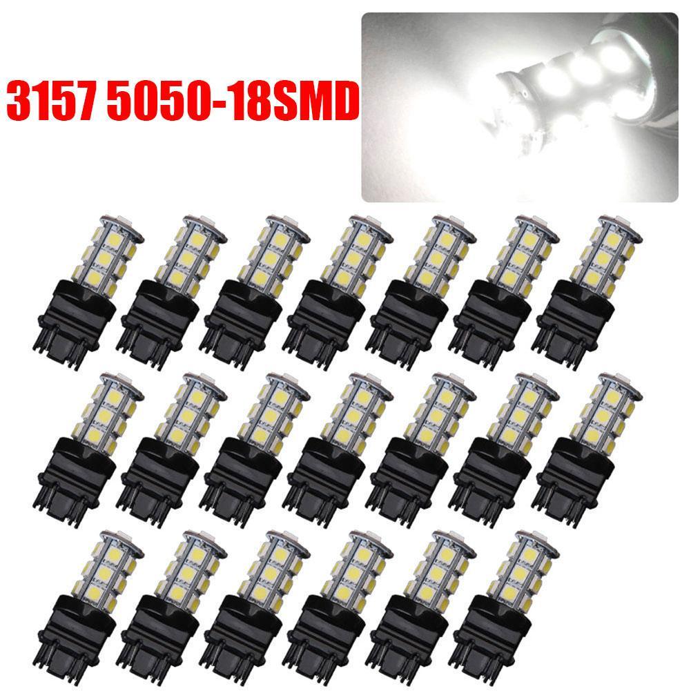 4 X White 3157 3156 3057 3457 18SMD 5050 LED Bulb Brake Reverse Back up Light