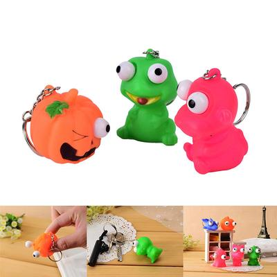 Luggage & Bags 1pcs Mini Animal Anti Stress Ball Fun Antistress Extruding Big Raised Eyes Doll Squeezing Pandent For Bag Accessories Random
