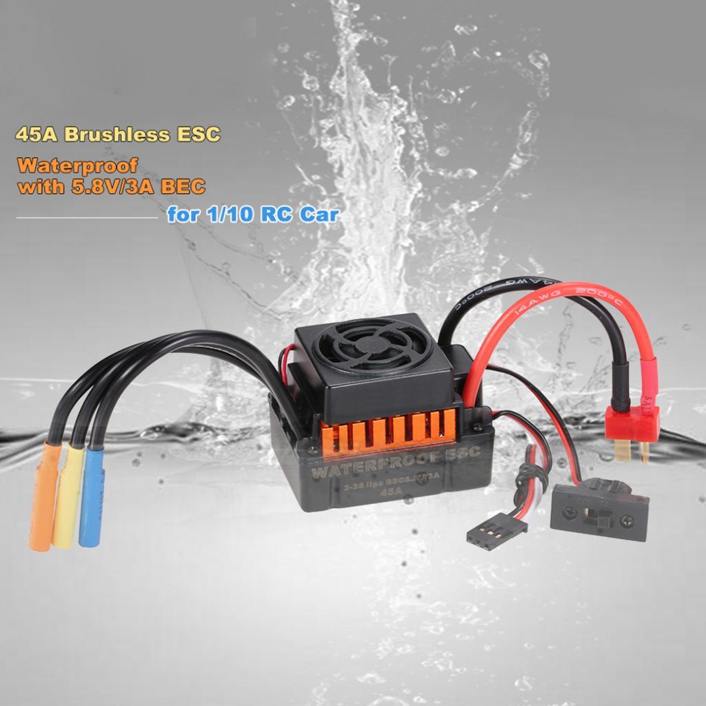 Waterproof F540 4370kv Brushless Motor 45a Esc For 1 10 12 Rc Car Bec Wiring Diagram Of 13