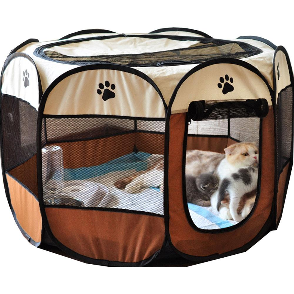 Portable Folding Puppy Kennel Pet Fence Pet Delivery Room Cat Dog House  Octagonal Cage Pet Tent - buy from 31$ on Joom e-commerce platform