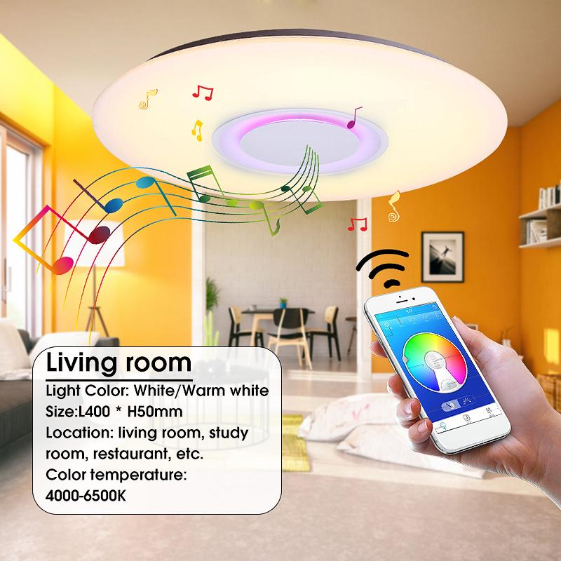 Led Music Ceiling Light Modern Pendant Flush Mount Lamp Bluetooth Speaker Lamp Buy At A Low Prices On Joom E Commerce Platform