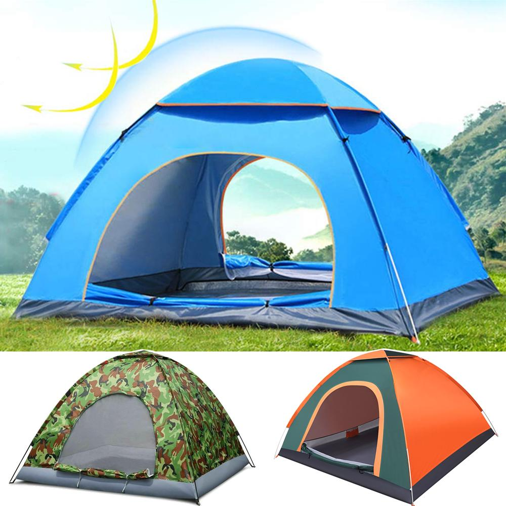 3-4 Person Waterproof Camping Tent Automatic Pop Up Shelter Outdoor Hiking new