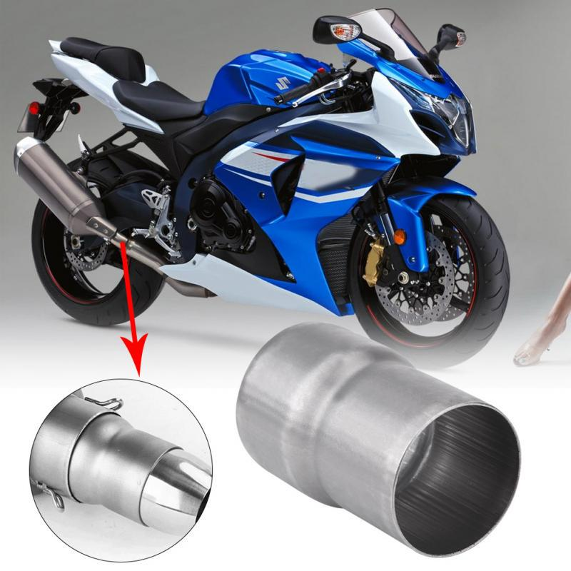 Motorcycle Exhaust Adapter,51mm to 60mm Motorcycle Exhaust Pipe Adapter Reducer Muffler Connector Stainless Steel