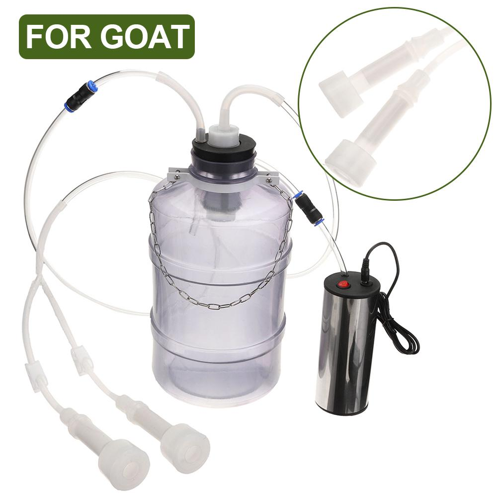 5L elektrische Melker Melkmaschine Tragbarer Edelstahlmelker für Kuh
