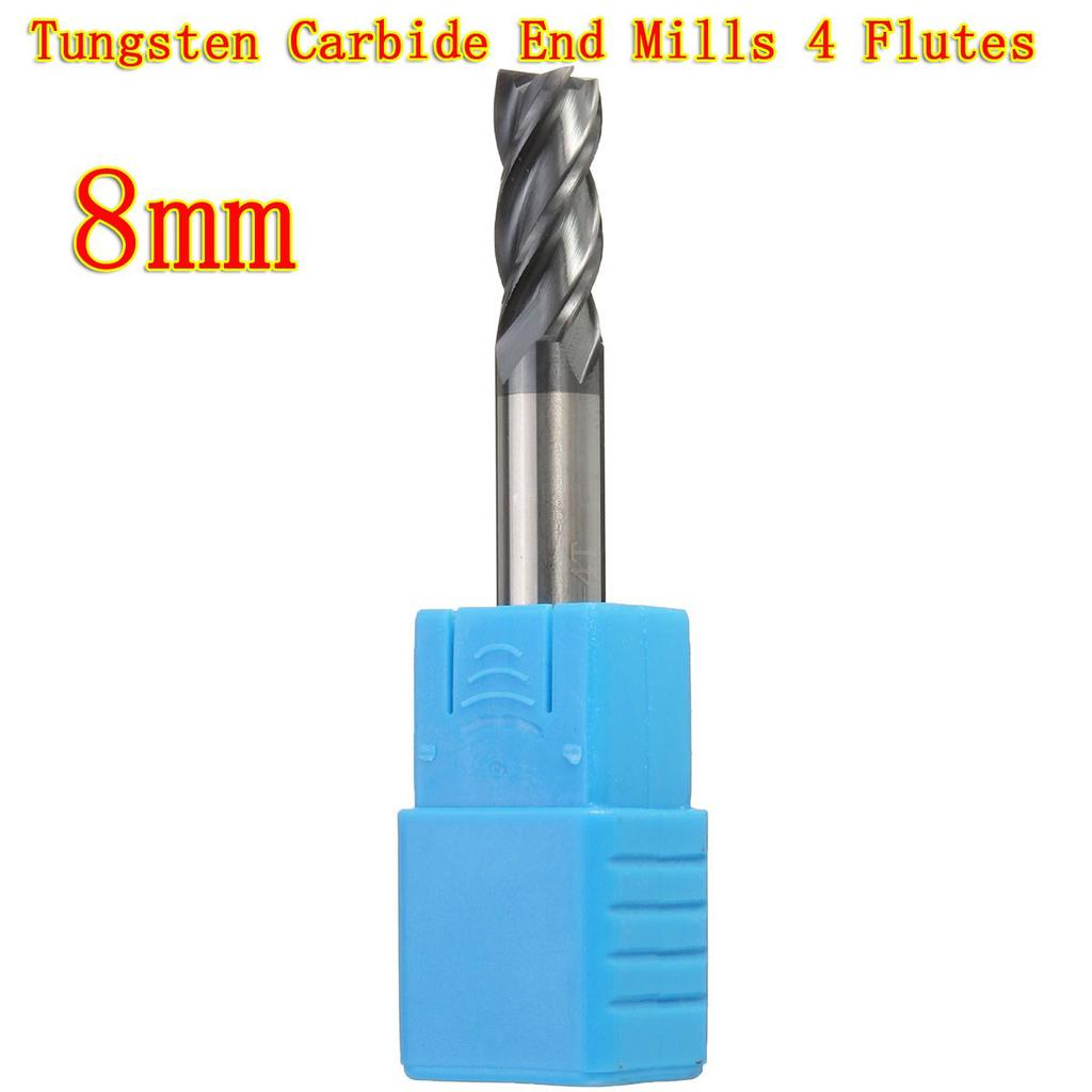 12mm Solid Carbide Tungsten End Mill 4Flutes Shank Drill HRC50 Flat-Bottom
