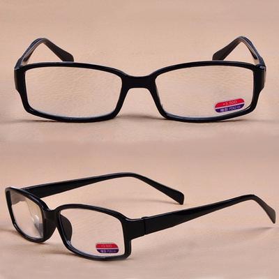 +1.00-+3.00 Black Reading Glasses Women Men Popular Frame Clear Lens