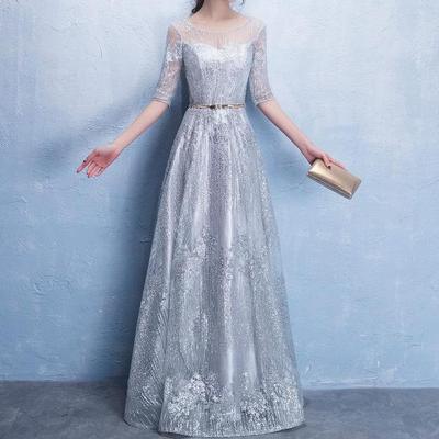 4eb25452f9 Długa suknia wieczorowa Kobiety Elegancka seksowna suknia na druhny wesele